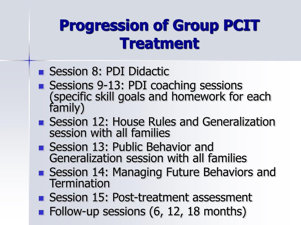 Progression of Group PCIT Treatment