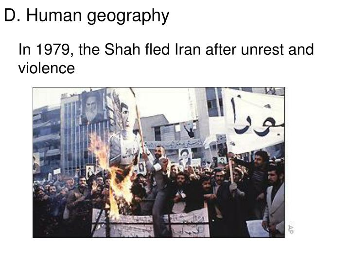 In 1979, the Shah fled Iran after unrest and violence