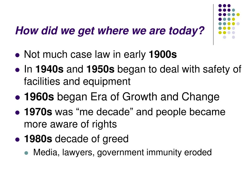 How did we get where we are today?
