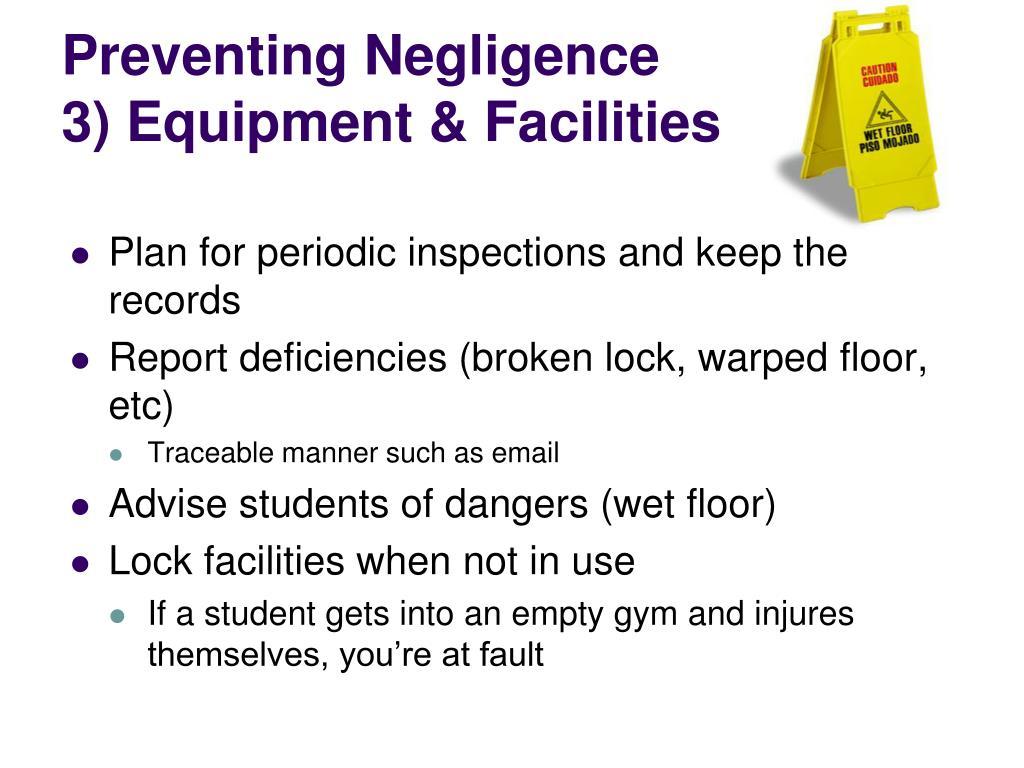 Preventing Negligence