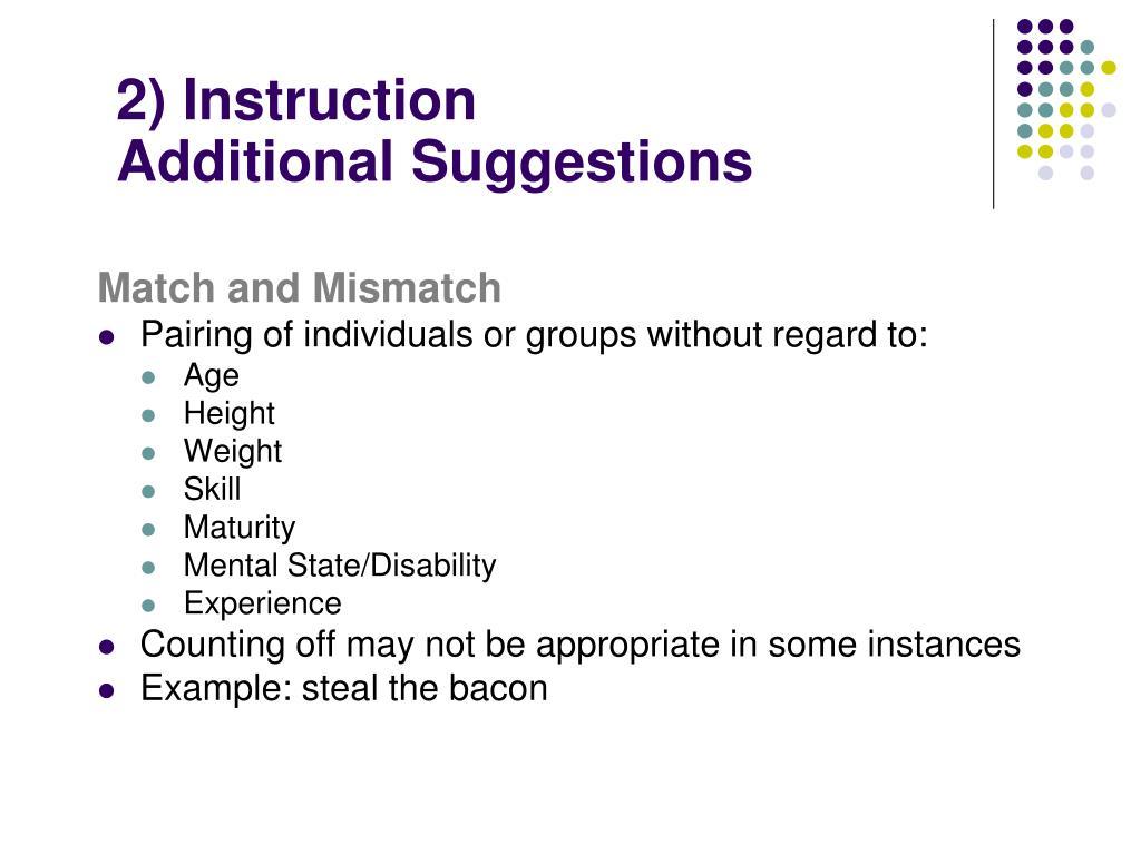 2) Instruction