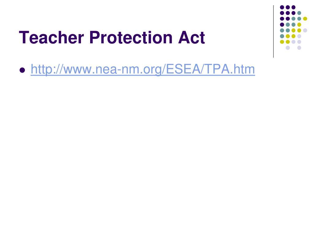 Teacher Protection Act