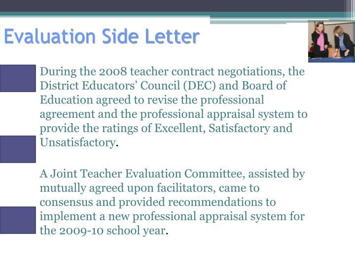 Evaluation side letter