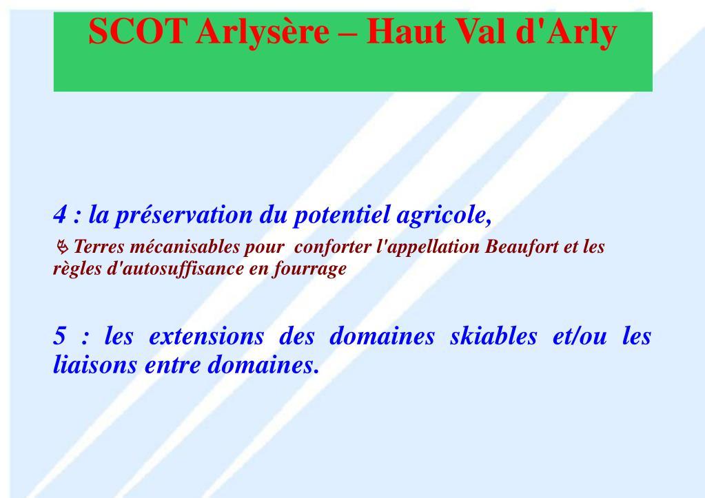 4 : la préservation du potentiel agricole,