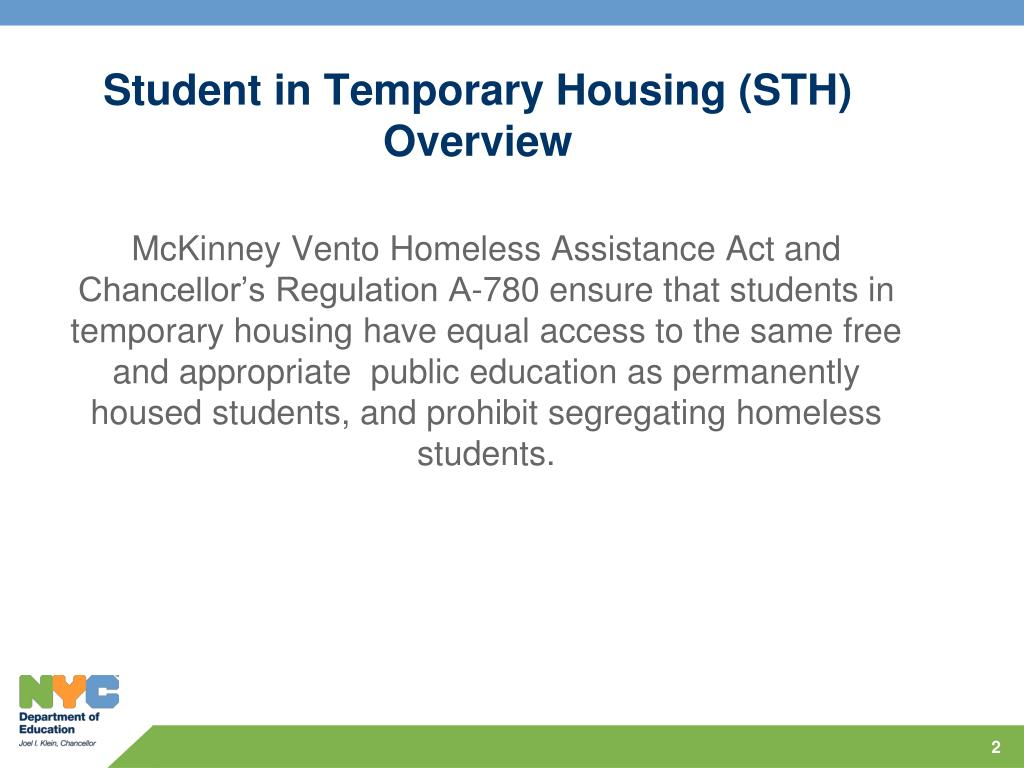 Student in Temporary Housing (STH)