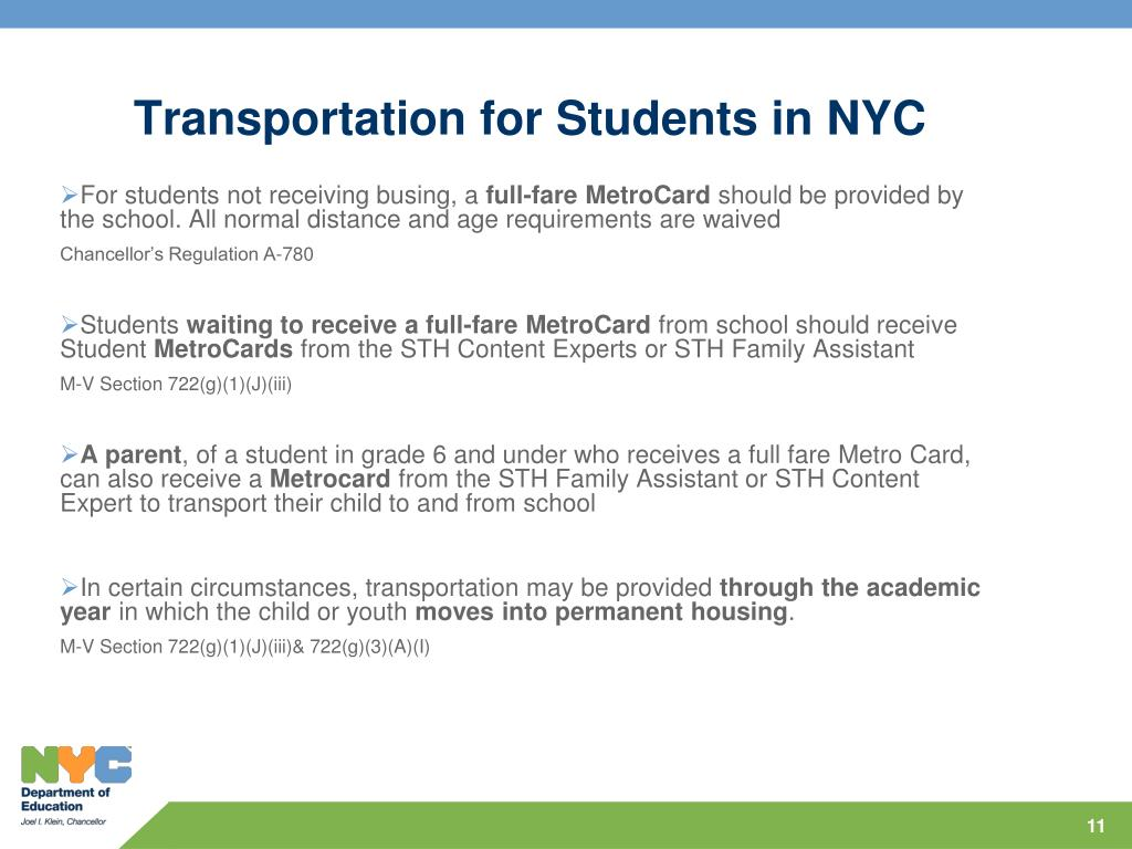 Transportation for Students in NYC