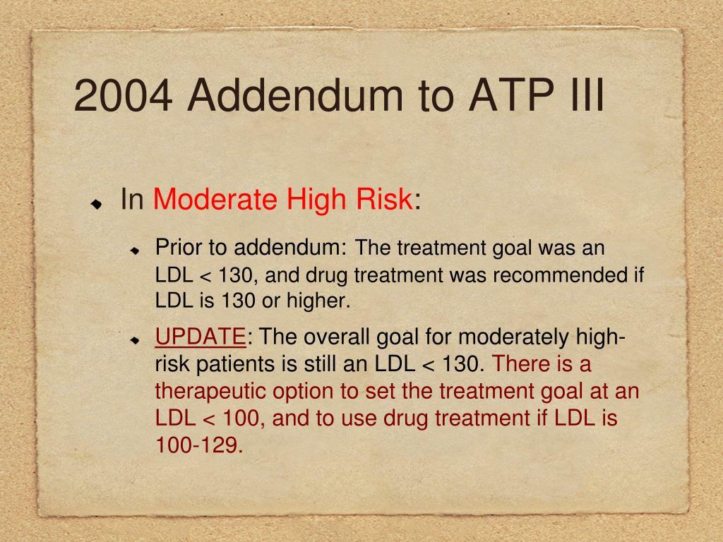 2004 Addendum to ATP III