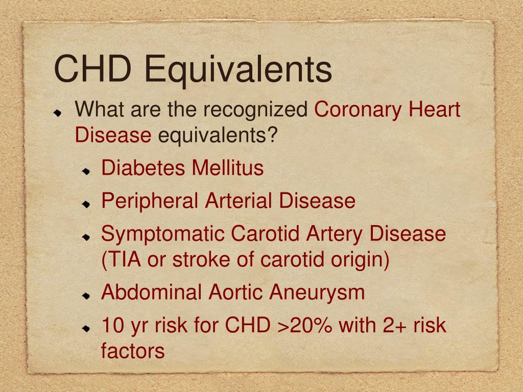 CHD Equivalents