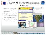 noaa nws weather observations and forecasts
