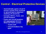 control electrical protective devices