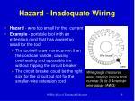 hazard inadequate wiring