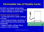 permissible use of flexible cords