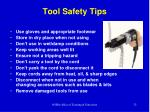 tool safety tips