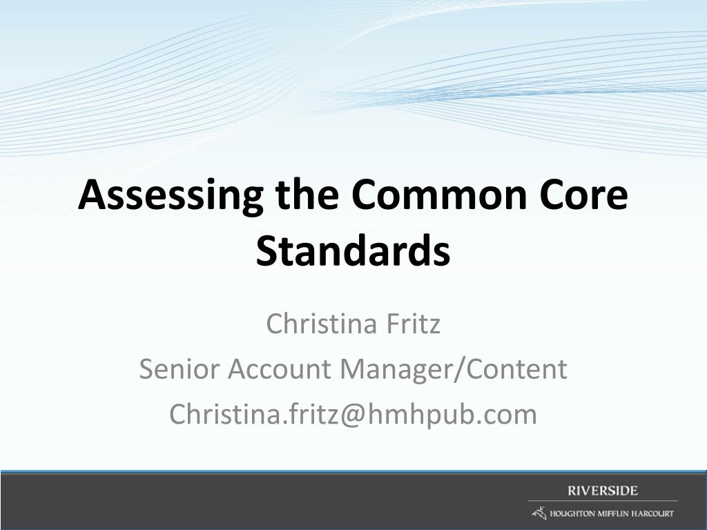 assessing the common core standards