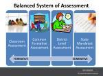 balanced system of assessment