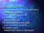 deficiency motivation
