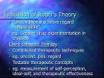 evaluation of roger s theory18