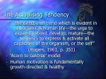 the actualising tendency