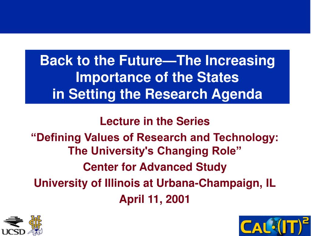 Back to the Future—The Increasing Importance of the States