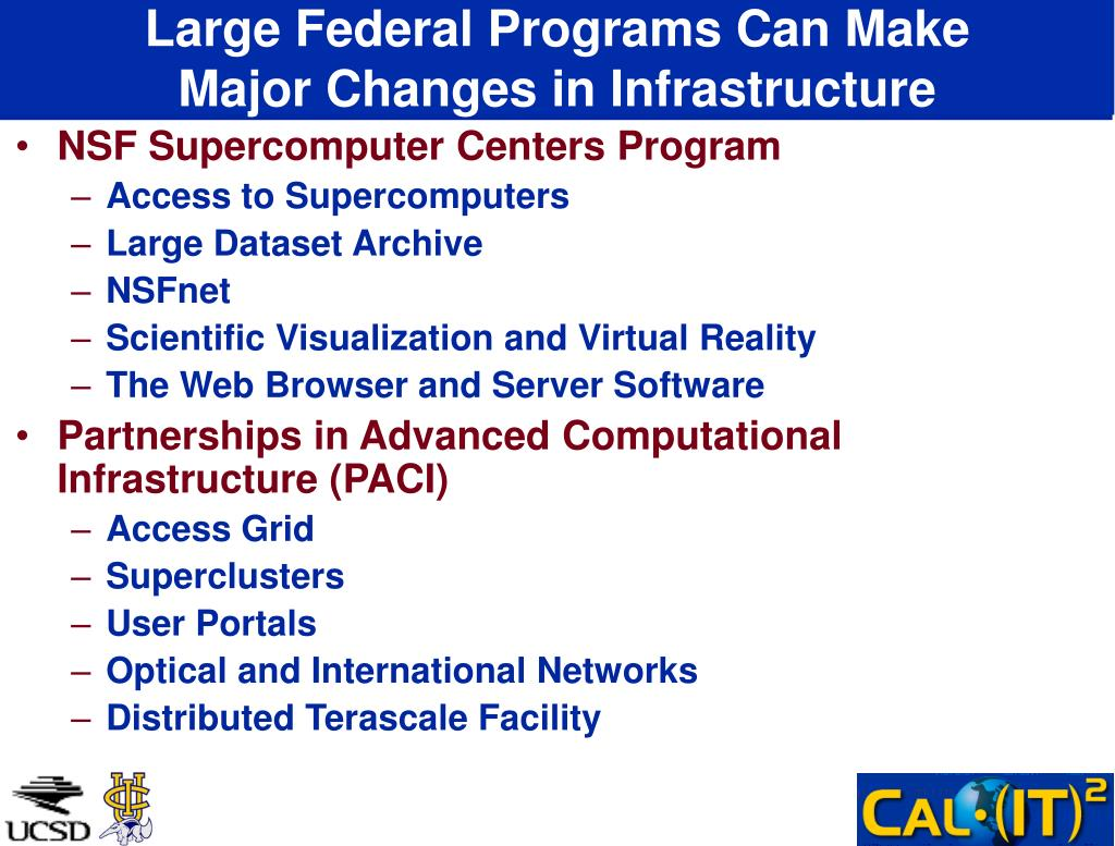Large Federal Programs Can Make