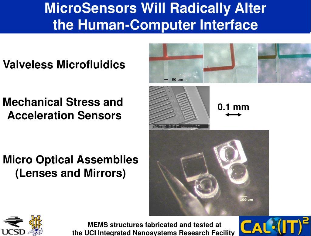 MicroSensors Will Radically Alter