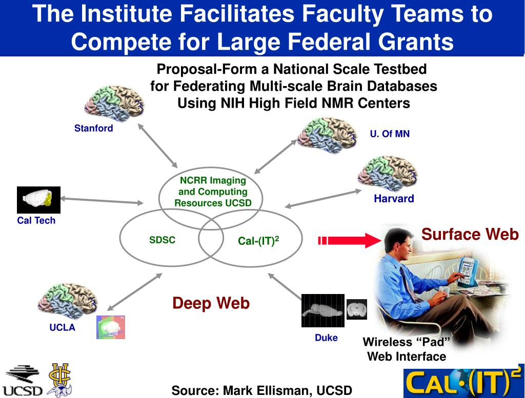 The Institute Facilitates Faculty Teams to Compete for Large Federal Grants