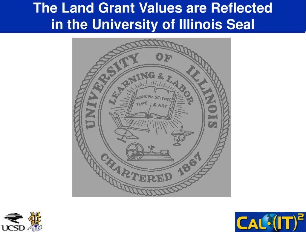 The Land Grant Values are Reflected