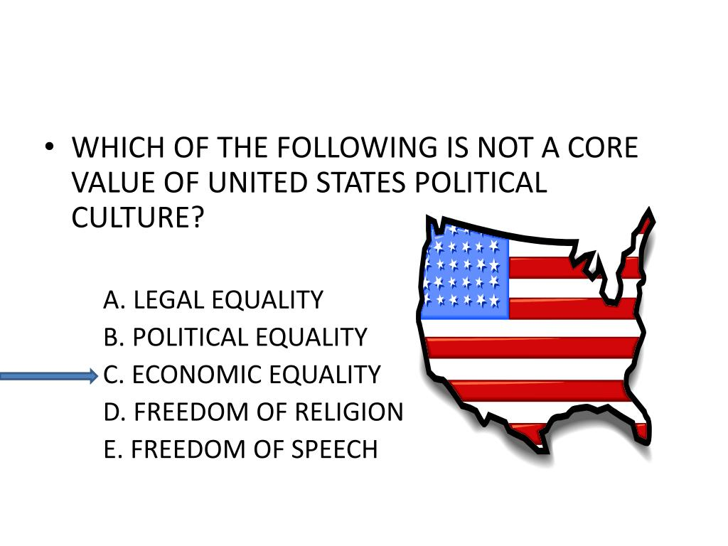 WHICH OF THE FOLLOWING IS NOT A CORE VALUE OF UNITED STATES POLITICAL CULTURE?