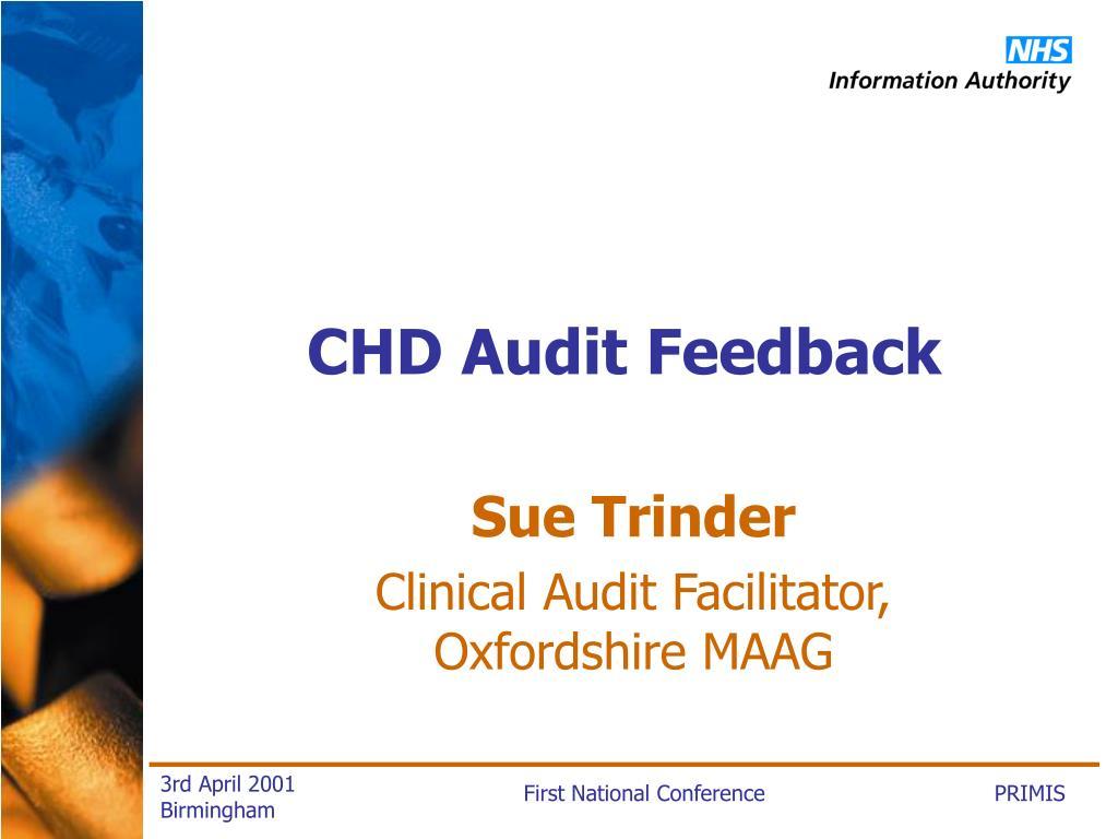 CHD Audit Feedback