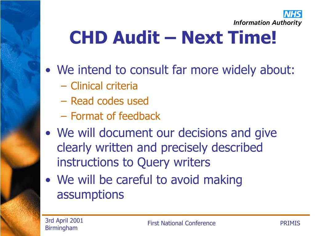 CHD Audit