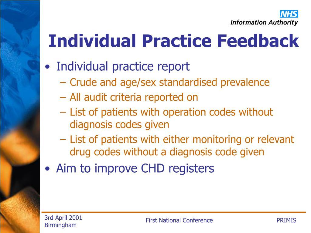 Individual Practice Feedback