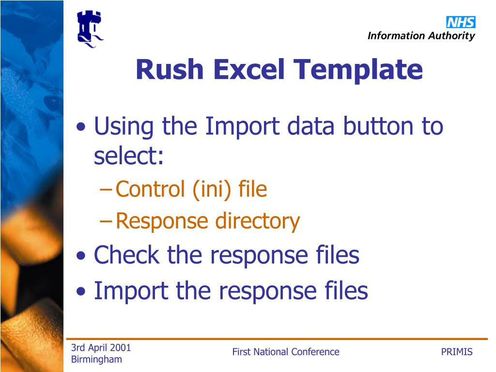 Rush Excel Template