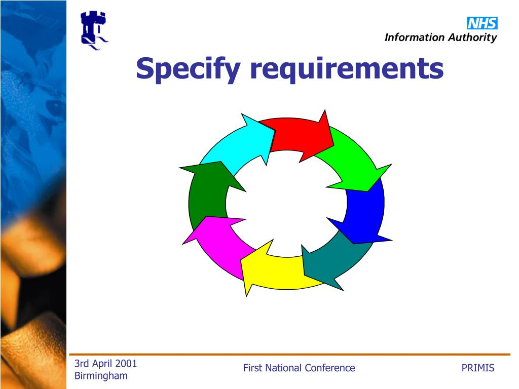 Specify requirements