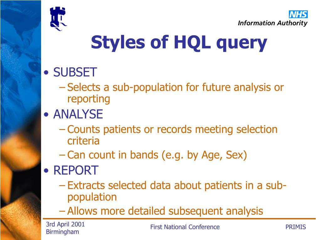 Styles of HQL query