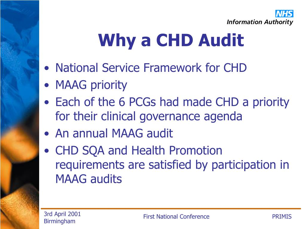 Why a CHD Audit