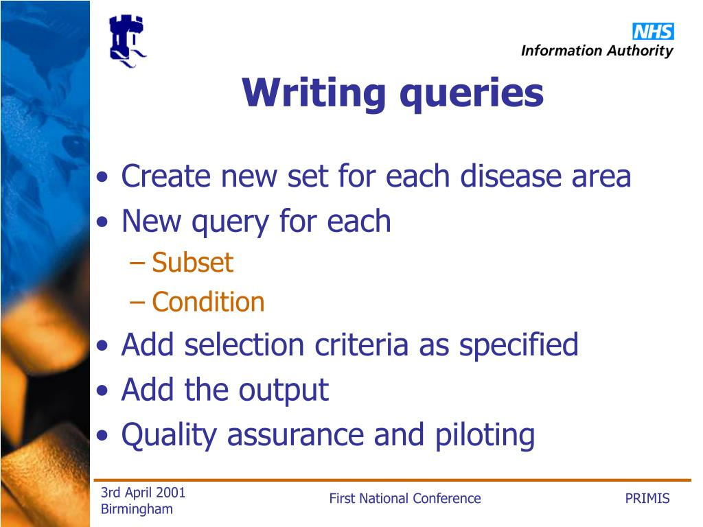 Writing queries