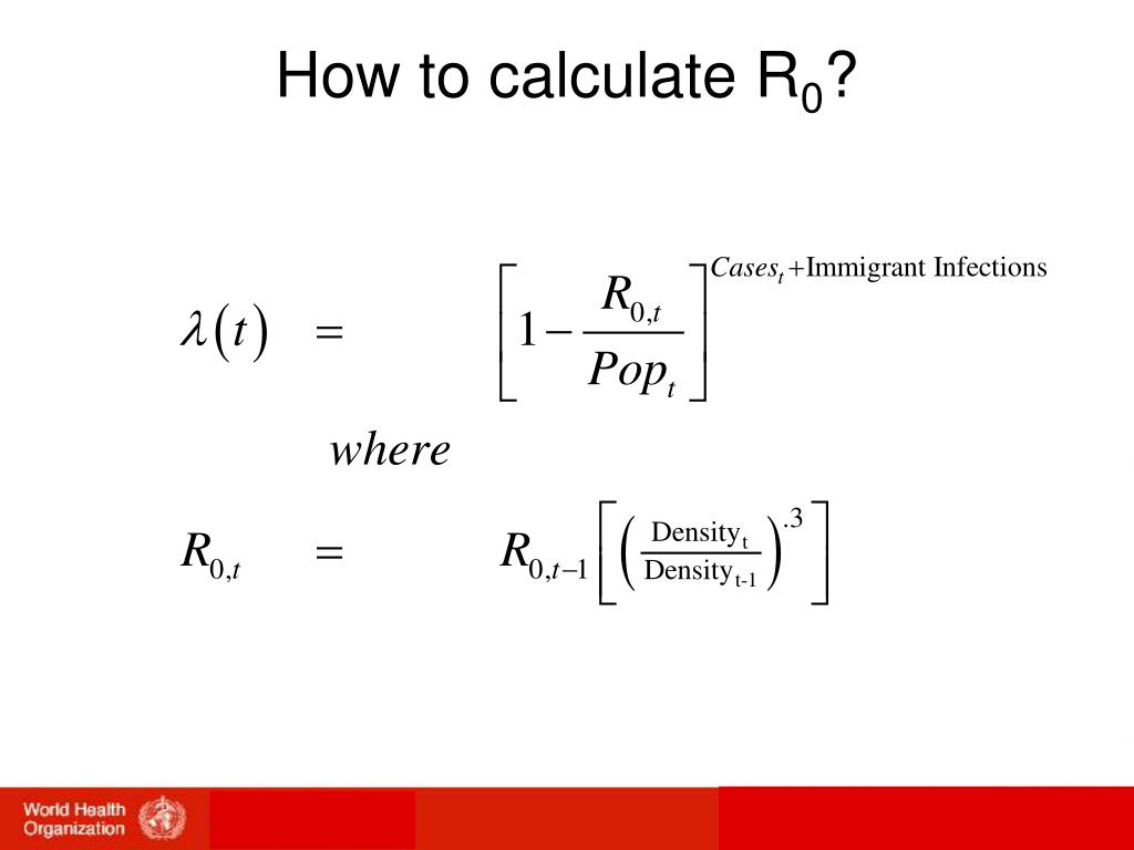 How to calculate R
