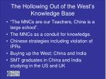 the hollowing out of the west s knowledge base