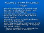 historically noteworthy boycotts 1 nestle