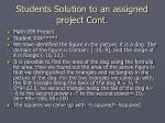 students solution to an assigned project cont23
