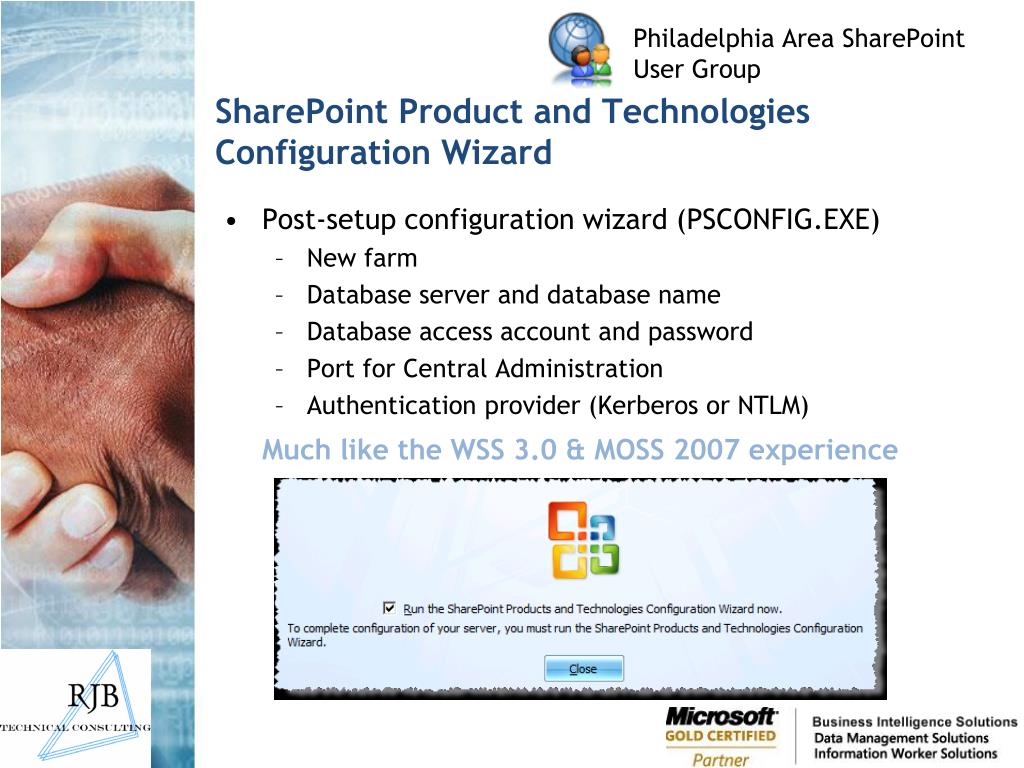 SharePoint Product and Technologies Configuration Wizard