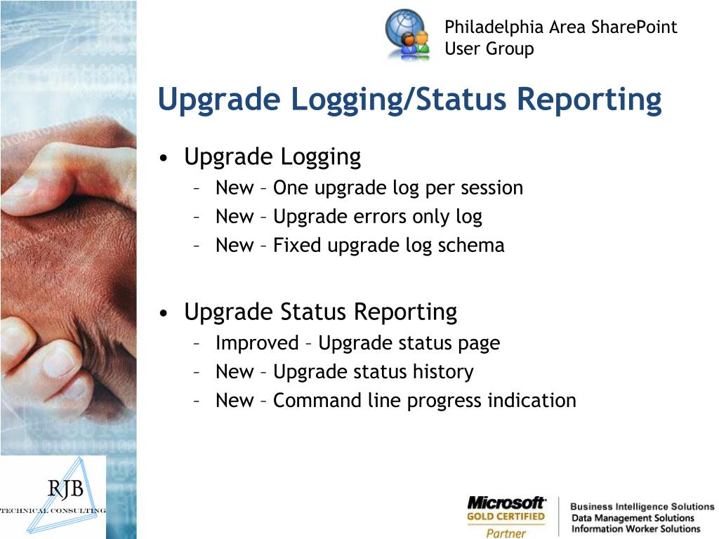 Upgrade Logging/Status Reporting