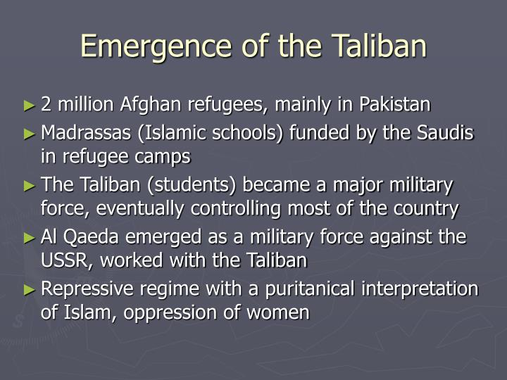 Emergence of the Taliban