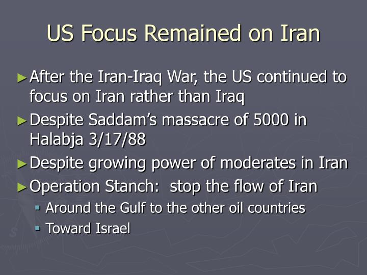 US Focus Remained on Iran