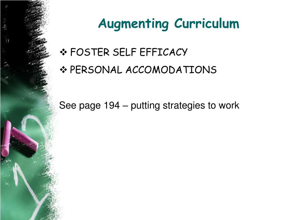 Augmenting Curriculum