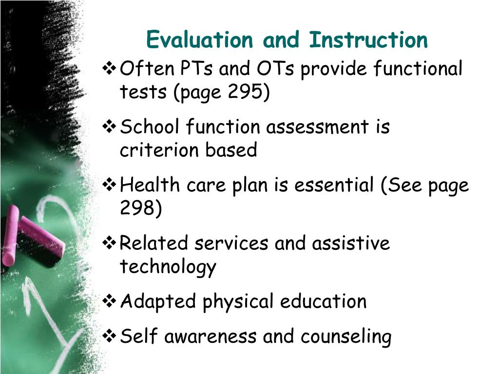 Evaluation and Instruction