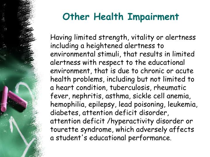 Other health impairment
