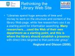 rethinking the library web site