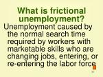 what is frictional unemployment