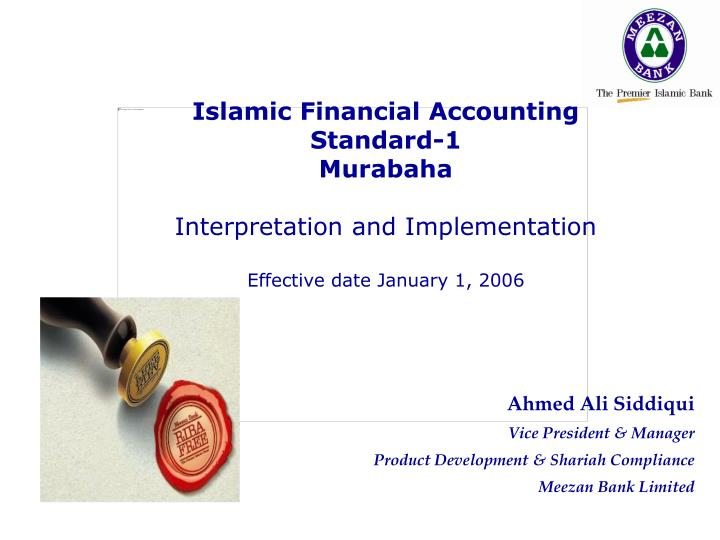 Islamic Financial Accounting Standard-1